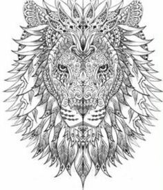 coloriage anti stress lion